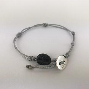 bracciale grigio 129. 1mm cordino marino-sagola 1