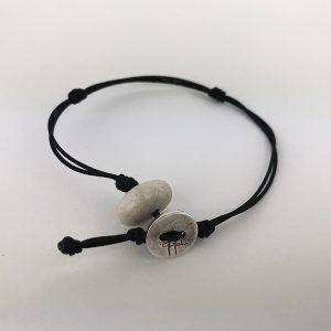 bracciale nero 107. 1mm cordino marino-sagola 1