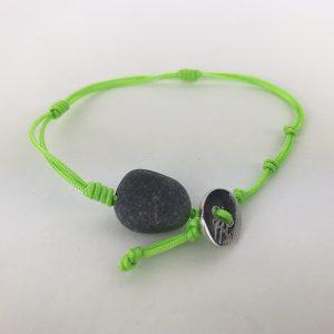 bracciale verde chiaro acido 1mm cordino marino-sagola 1