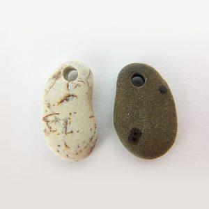 coppi di sassi per orecchini 1