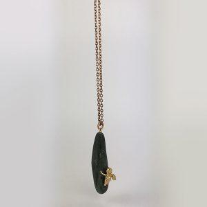 custode con pietra allungata verde 1