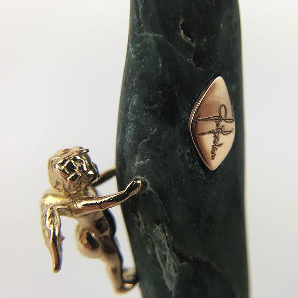 custode con pietra allungata verde 4